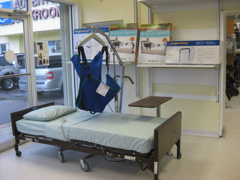 Hospital Bed Full Electric w/Rails and UPGRADED Mattress - Free Local Delivery and Setup - Adventura Sickroom Supply
