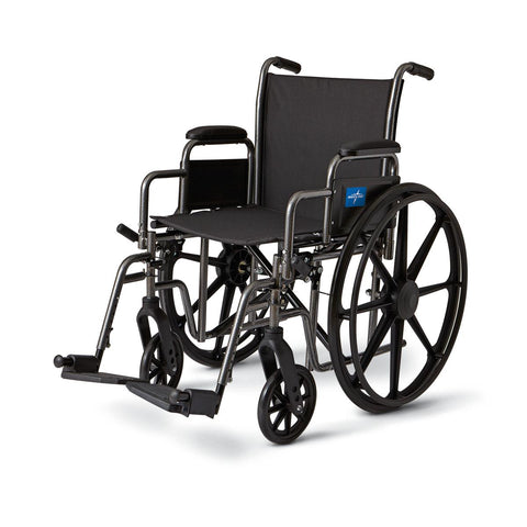 Wheelchair Standard with removable arms model # mds806600e - Adventura Sickroom Supply