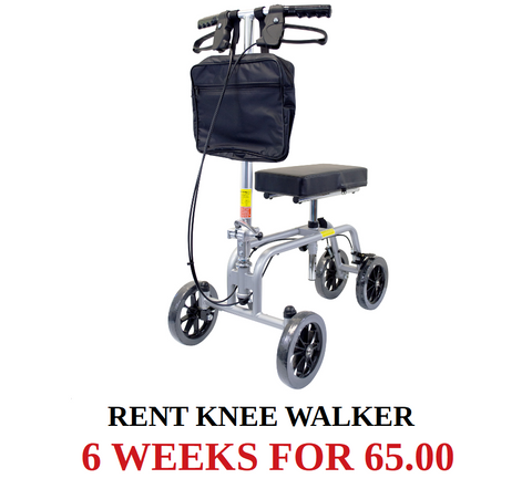03 Rent Knee Walker gray and black - Crutch and Crutches Alternative - (Pick up at Store) 65.00 per 6 Weeks - Adventura Sickroom Supply
