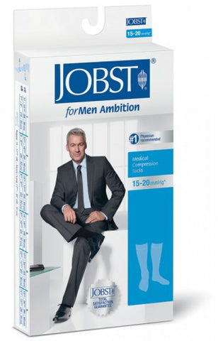 knee ambition for men closed toe 15-20 compression socks - Adventura Sickroom Supply