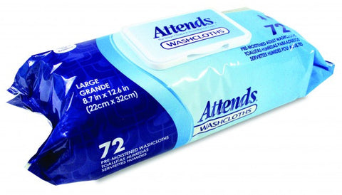 washcloths Attends pre-moistened large cloths wccp1000 - Adventura Sickroom Supply