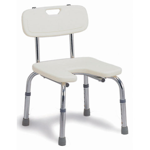 bath bench with U shape opening 522-1712-1999 Briggs - Adventura Sickroom Supply