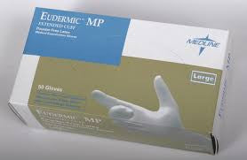 gloves latex EUDERMIC MP. extended cuff bx/50 - Adventura Sickroom Supply