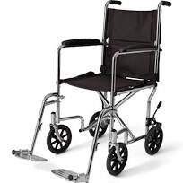 03 Rent Wheelchair Transport  Steel Frame - Rental Per Month is 40.00 - Adventura Sickroom Supply