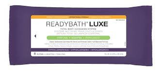 washcloths READYBATH Luxe antibacterial total body cleansing system msc095100 medline