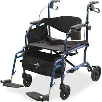 Walker Wheelchair Combination transporter rollator mds808200tr Medline Walkers - Adventura Sickroom Supply