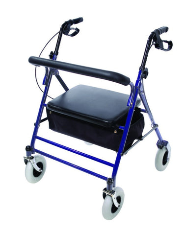 Heavy Duty Rollator- Blue - Bariatric Walker Rolator - Heavy Duty Walker