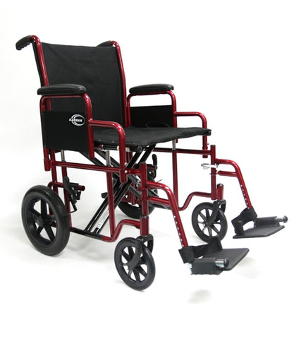 wheelchair bariatric 20 wide w/rem arms wt capacity 255 - Adventura Sickroom Supply