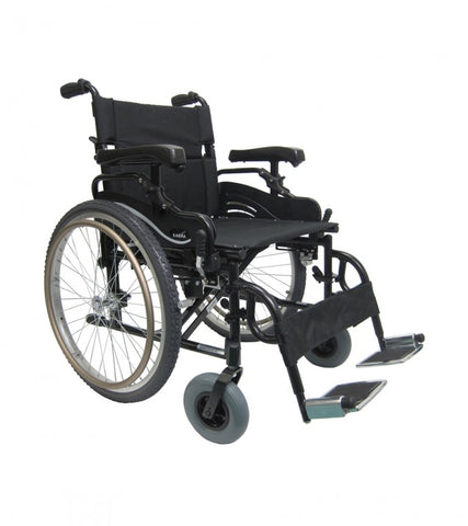 "Karman Extra Wide Light Weight Heavy Duty Wheelchair 22""x 18"" - Adventura Sickroom Supply"