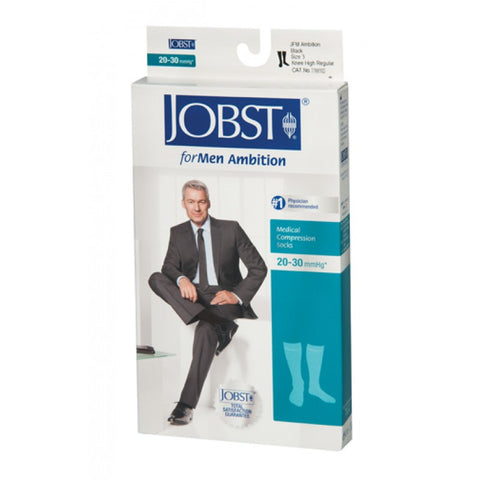 knee ambition for men closed toe 20-30 compression socks