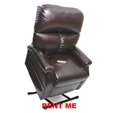 Rent Lift Chair Monthly 250 Classic Collection Lift Chair Vinyl - Brown Only - Adventura Sickroom Supply