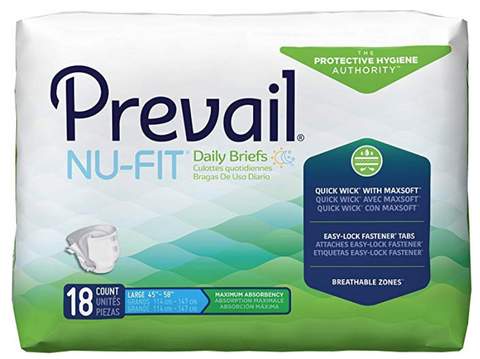 Diapers Prevail Nu-Fit Briefs Item # NU-013/1