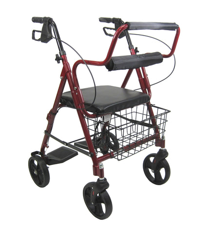 Walker/Wheelchair Combo - Rollator - Rose series 1012BL
