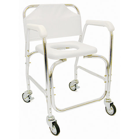Shower Commode Transport on wheels 522-1702-1900 Briggs rolling shower chair - Adventura Sickroom Supply
