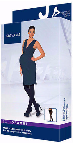 pantyhose soft opaque maternity 20-30 only closed toe sigvaris - Adventura Sickroom Supply