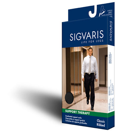 knee CLASSIC RIBBED socks Sigvaris 180 series - Adventura Sickroom Supply