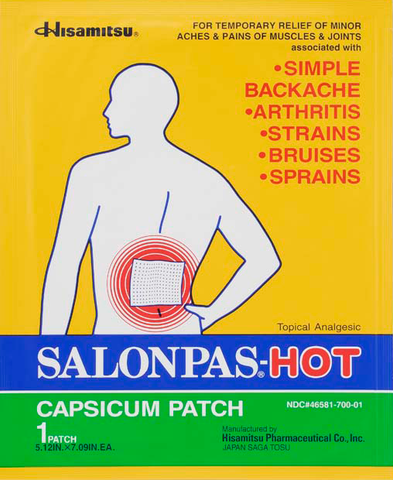 salonpas-hot pain patch - Adventura Sickroom Supply