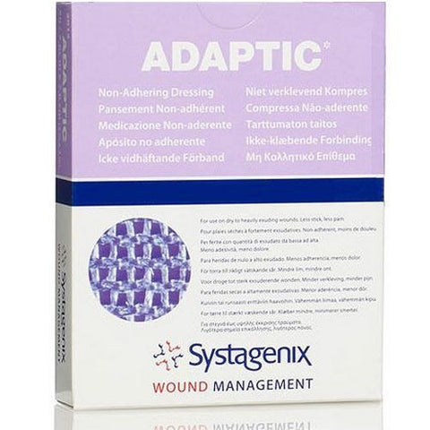 "adaptic non-adhering dressing 3""x3"" Systagenix 2012 - Adventura Sickroom Supply"