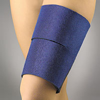 thigh wrap EZ-ON neoprene supports blue only - Adventura Sickroom Supply