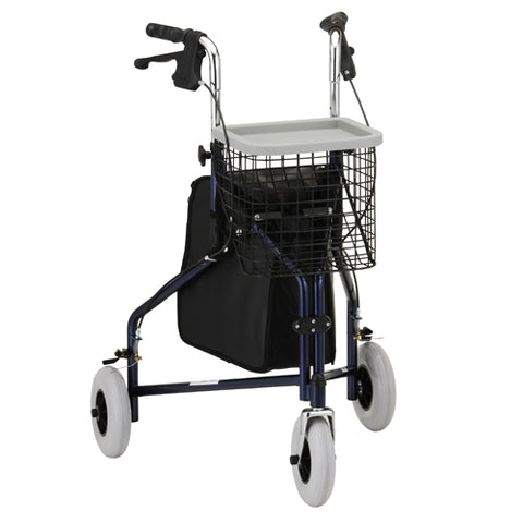 Walker 3 Wheel with pouch item#4900BL (Nova) - Adventura Sickroom Supply