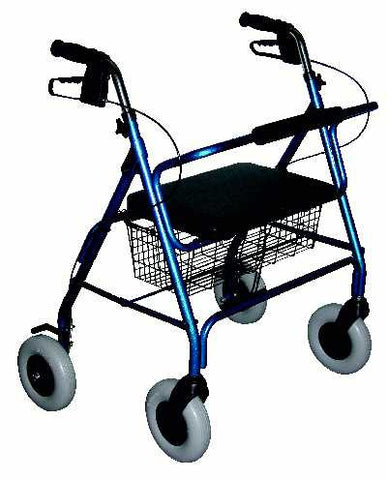 Walker heavy duty 4 wheel w/seat Essential medical Walkers - Adventura Sickroom Supply