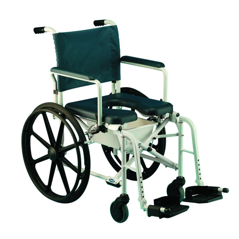Shower Commode Wheelchair 23 inch tires 6895  Rolling Shower Wheelchair