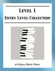 Level 1 (Beginner): Piano sheet music - Galaxy Music Notes