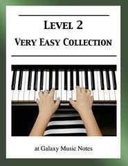 Level 2 (Very Easy): Piano sheet music - Galaxy Music Notes