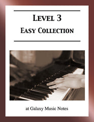 Level 3 (Easy): Piano sheet music - Galaxy Music Notes