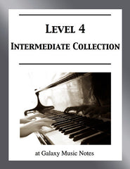 Level 4 (Intermediate): Piano sheet music - Galaxy Music Notes