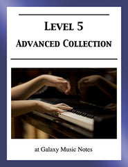 Level 5 (Advanced): Piano sheet music - Galaxy Music Notes