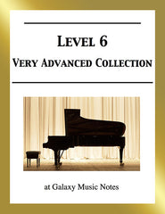 Level 6 (Expert): Piano sheet music - Galaxy Music Notes