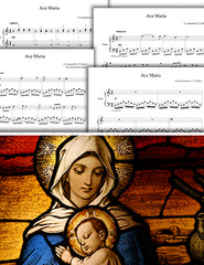 Ave Maria by Gounod & Bach: Pick your level - Piano sheet music