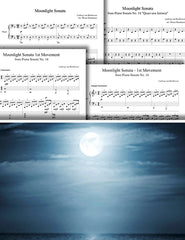 Moonlight Sonata - MVMT-1: Pick your level - Piano sheet