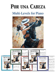 Por una Cabeza: Pick your level - Piano sheet music