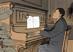 Ragtime music: Piano sheet music at multi-levels
