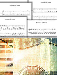 Romance: Pick your level - Piano solo sheet music