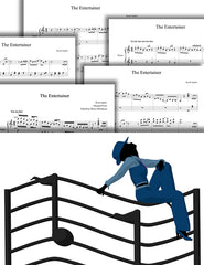 The Entertainer: Pick your level - Piano sheet music