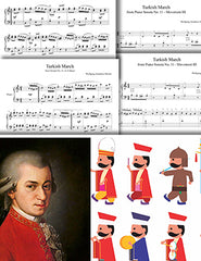 Turkish March by Mozart: Pick your level - Piano sheet music