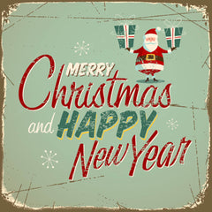 "Card ""Merry Christmas & Happy New Year"""
