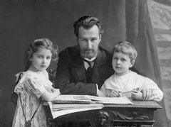 Composer Dmitry Kabalevsky & his children