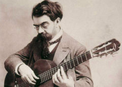 Spanish guitar composer Francisco Tarrega