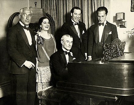 Gershwin (right) & Ravel at the piano