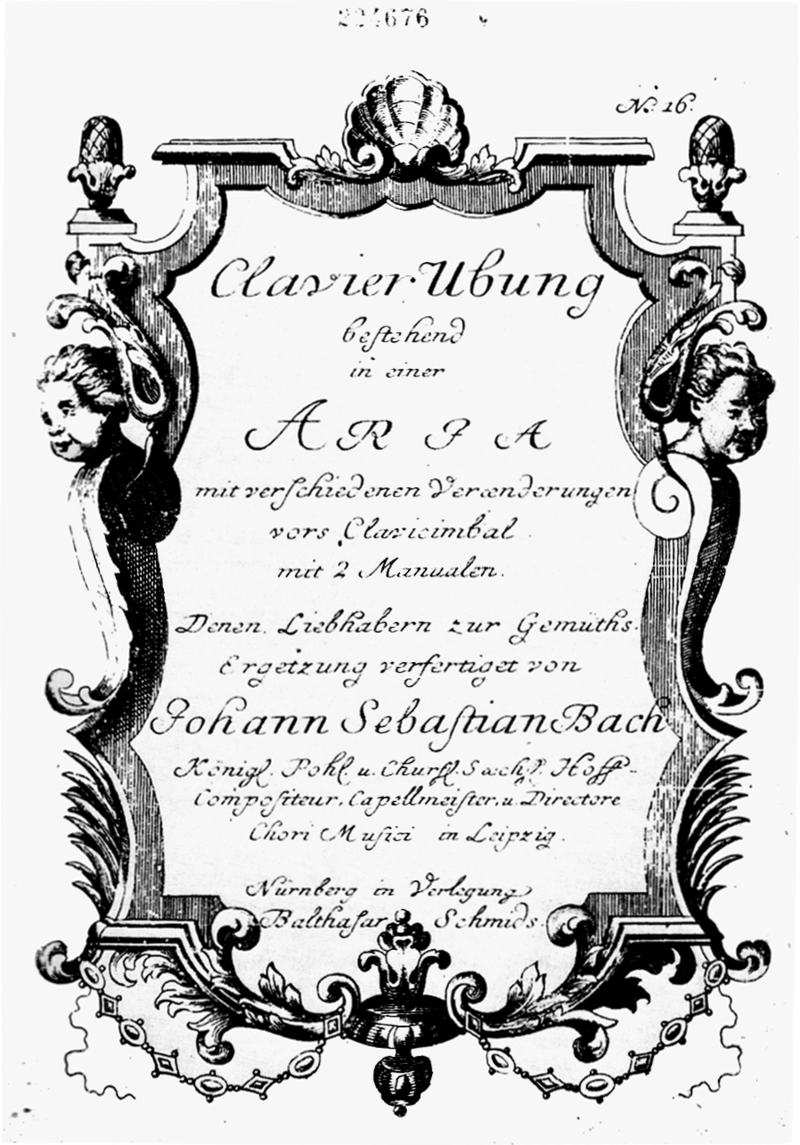 Goldberg Variations' title page 1st edition