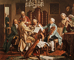 Joseph Haydn playing quartet