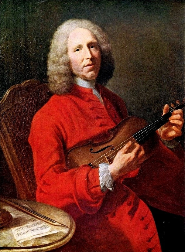 Jean Philippe Rameau playing violin (Portrate)