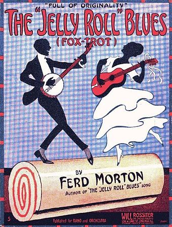 """Jelly Roll Morton's """"Jelly Roll Blues"""" poster"""