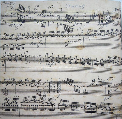 Ringk's manuscriptcopy of Toccata 565 by Bach