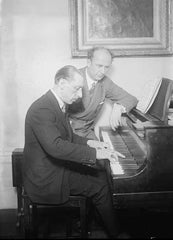 Igor Stravinsky playing piano