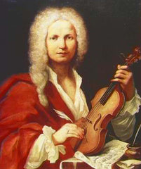 Antonio Vivaldi with violin